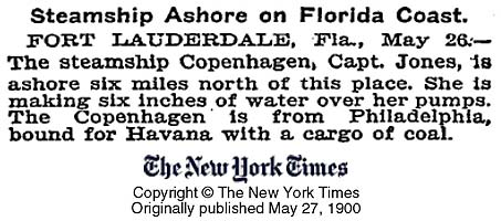 Steamship Ashore on Florida Coast