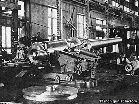 13 inch gun at factory