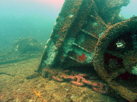 Wreckage of USS Massachusetts