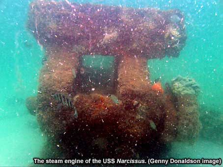 The steam engine of USS Narcissus
